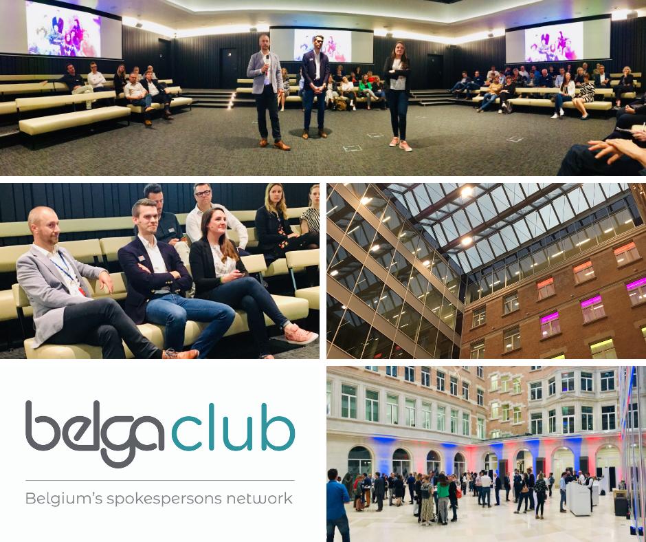 Zo'n 100 woordvoerders op de eerste afterwork van Belga Club (video)